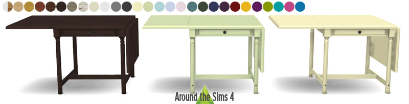 my sims 4 blog ikea folded tables chairs by sandy around the sims. Black Bedroom Furniture Sets. Home Design Ideas