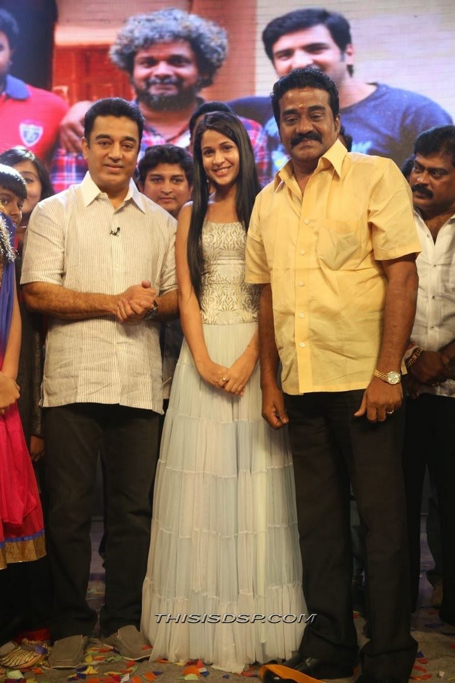Kamal Hasaan with Actress Lavanya at Bramman Audio launch