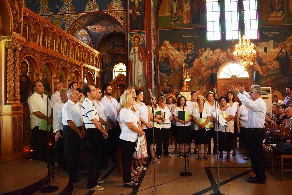 Η Χορωδία του Αγίου Βασιλείου Πειραιά έψαλε την Θ. Λειτουργία στον Ι.Ν. Ευαγγελίστριας Πορτοχελίου
