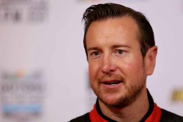 NASCAR Sprint Cup driver Kurt Busch speaks to the media during the 2015 NASCAR Media Day at Daytona International Speedway on February 12, 2015 in Daytona Beach, Florida. (February 11, 2015 - Source: Jerry Markland/Getty Images North America)