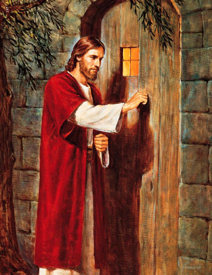 Eis que estou à porta, e bato; se alguém ouvir a minha voz