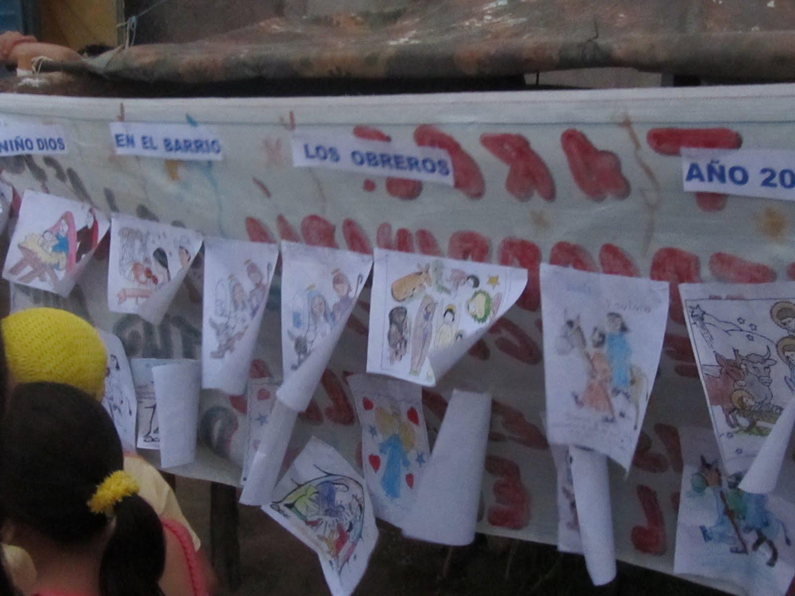 donan de corazón actividades de los niños durante la novena