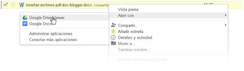 abrir con google drive viewer