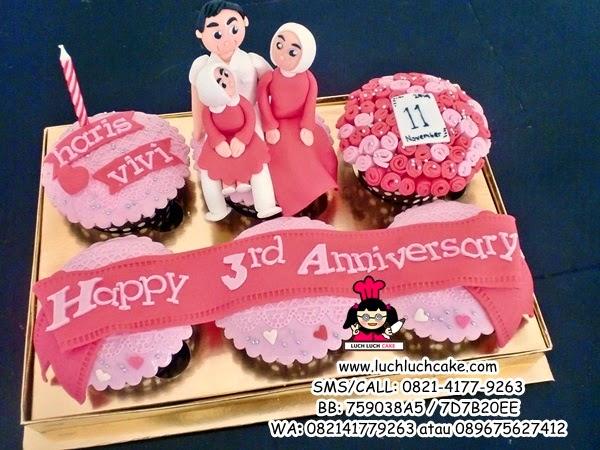 Cupcake Anniversary Romantis Daerah Surabaya - Sidoarjo