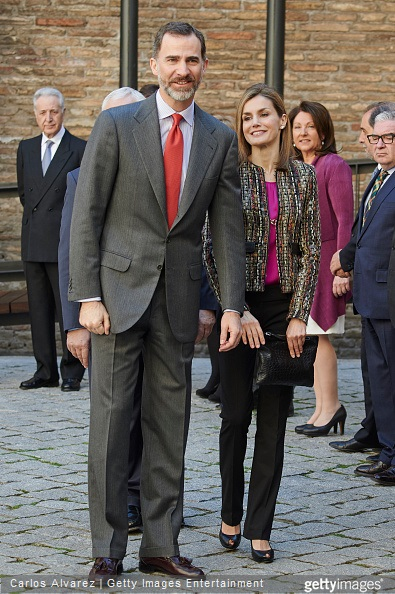 King Felipe VI of Spain and Queen Letizia of Spain visit the Aljaferia Palace on March 10, 2015 in Zaragoza, Spain