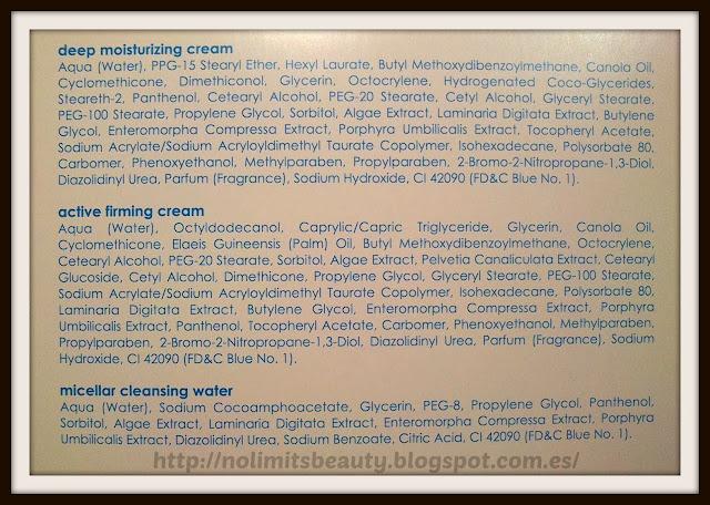 Ziaja - Marine Algae Set Spa - Ingredientes