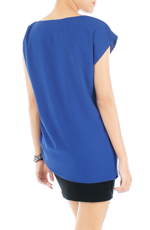 Ruche Asymmetrical Top - Blue