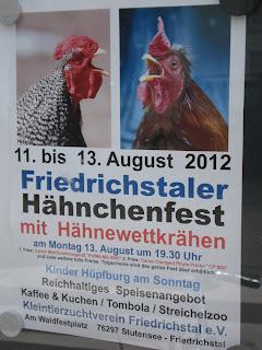 Affiche pour la promotion d'une fête de village en Allemagne