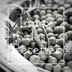 Index des Recettes