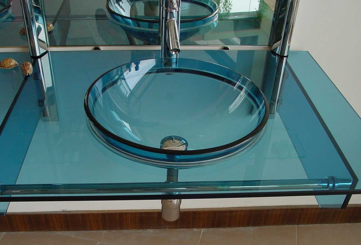 Foundation dezin decor designer glass basins for Wash basin mirror price