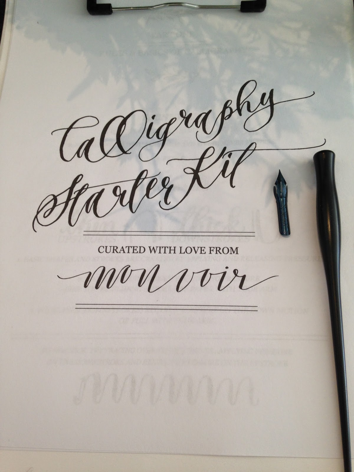 Jossie posie modern calligraphy class with jenna rainey