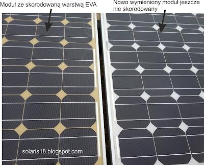 moduł fotowoltaiczny degradacja EVA