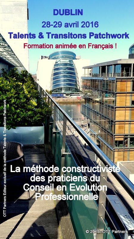 """Formez-vous à la méthode """"Talents & Transitions Patchwhork"""" en lange française à Dublin"""