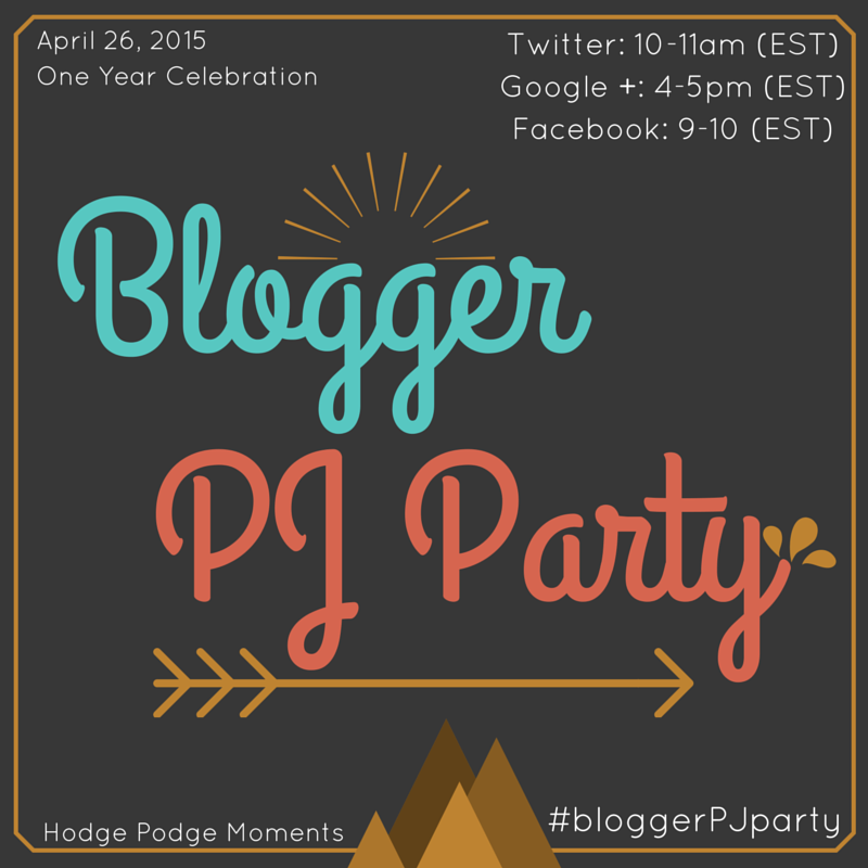 Blogger PJ Party One Year Celebration