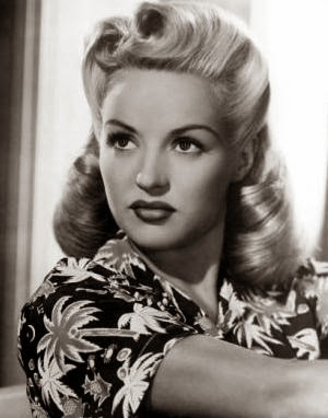 Heavenly Vintage Wedding Blog, hair to complement a 1940s wedding dress - Betty Grable