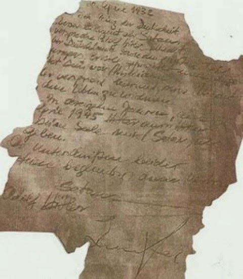 Penemuan Surat Perjanjian Adolf Hitler Dengan Iblis