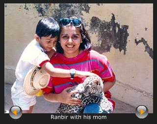Ranbir with his mother