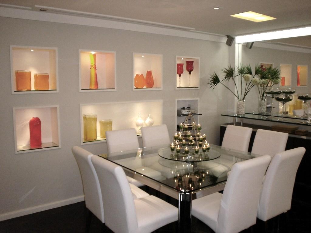 Construindo Minha Casa Clean 21 Salas De Jantar Dos Sonhos Com  -> Modelo De Sala Pequenas Com Espelho E Aparador