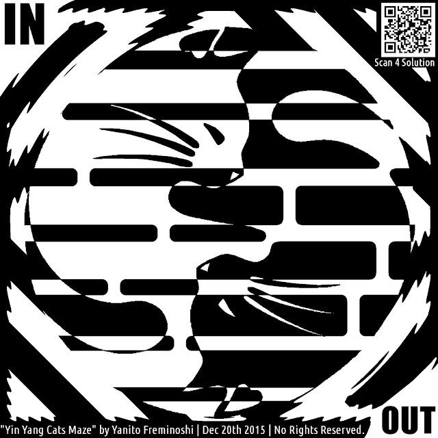 maze of cats yin yang
