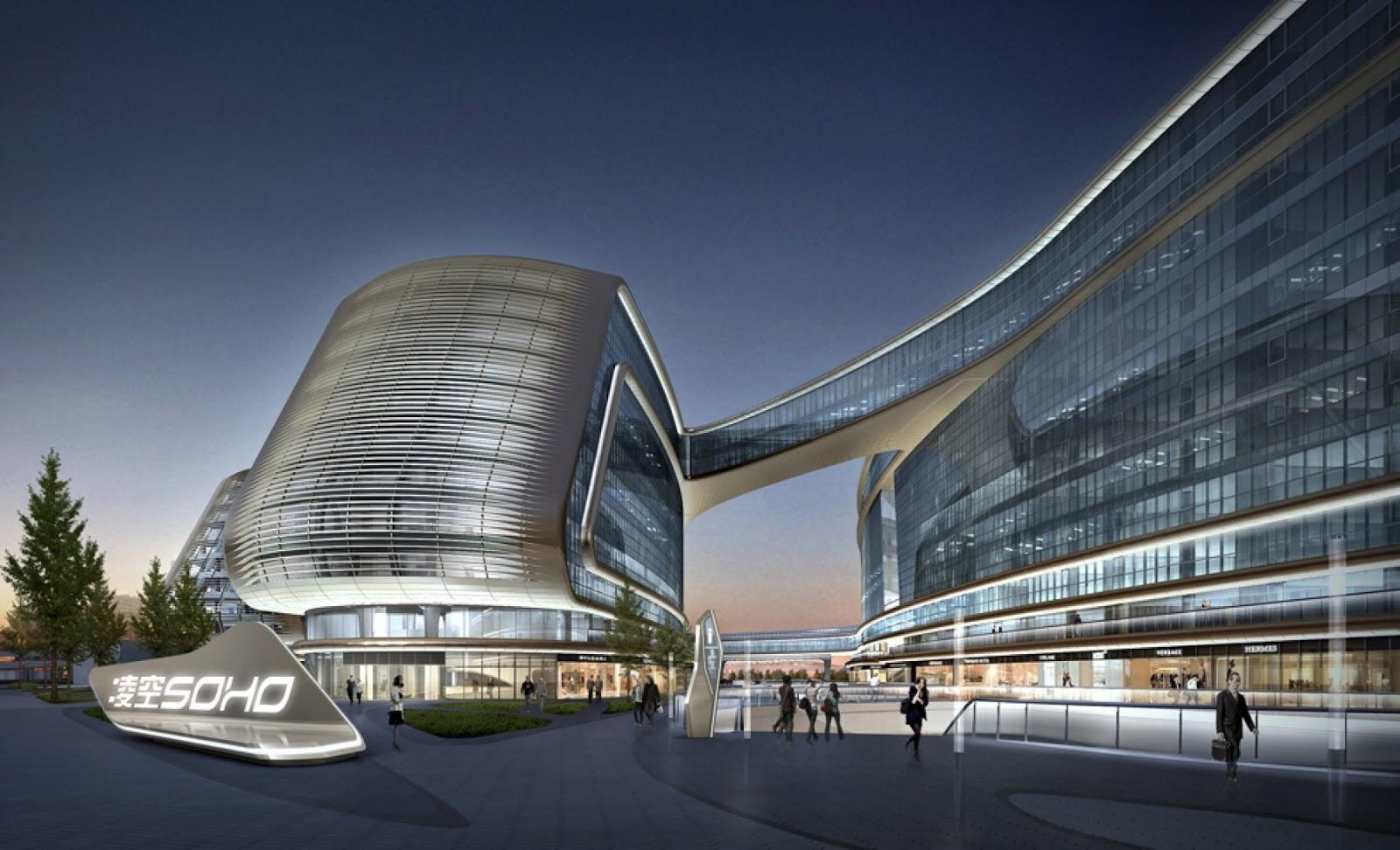 Futuristic sky soho by zaha hadid architects shanghai for Architecture zaha hadid