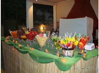 mesa principal havaiana