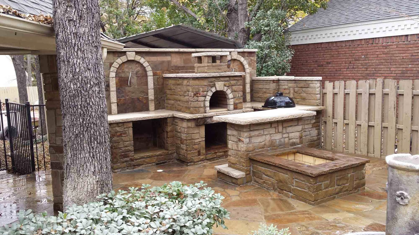 checkmark landscaping wood fired brick pizza oven texas
