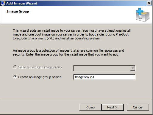 WDS Add Image Wizard