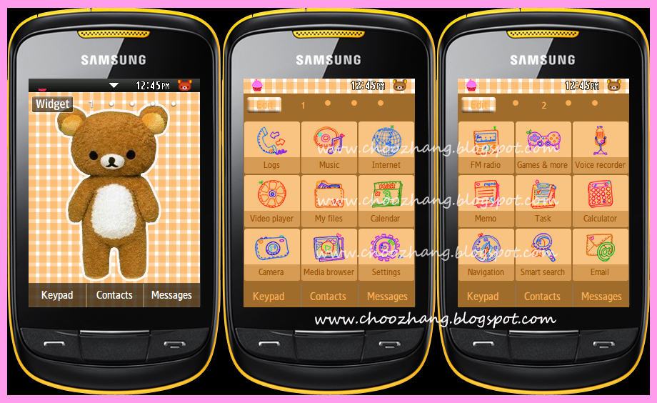 Samsung Corby 2 Or S3850   Cutesy Themes