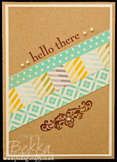 Happy Day Hello There Cards Using Strips of Paper by UK based Stampin' Up! Demonstrator Bekka Prideaux - love the use of scraps!