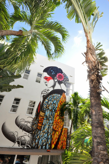 """Indocea"" New Street Art Mural By British Artist Fin DAC in Miami, Florida. 2"