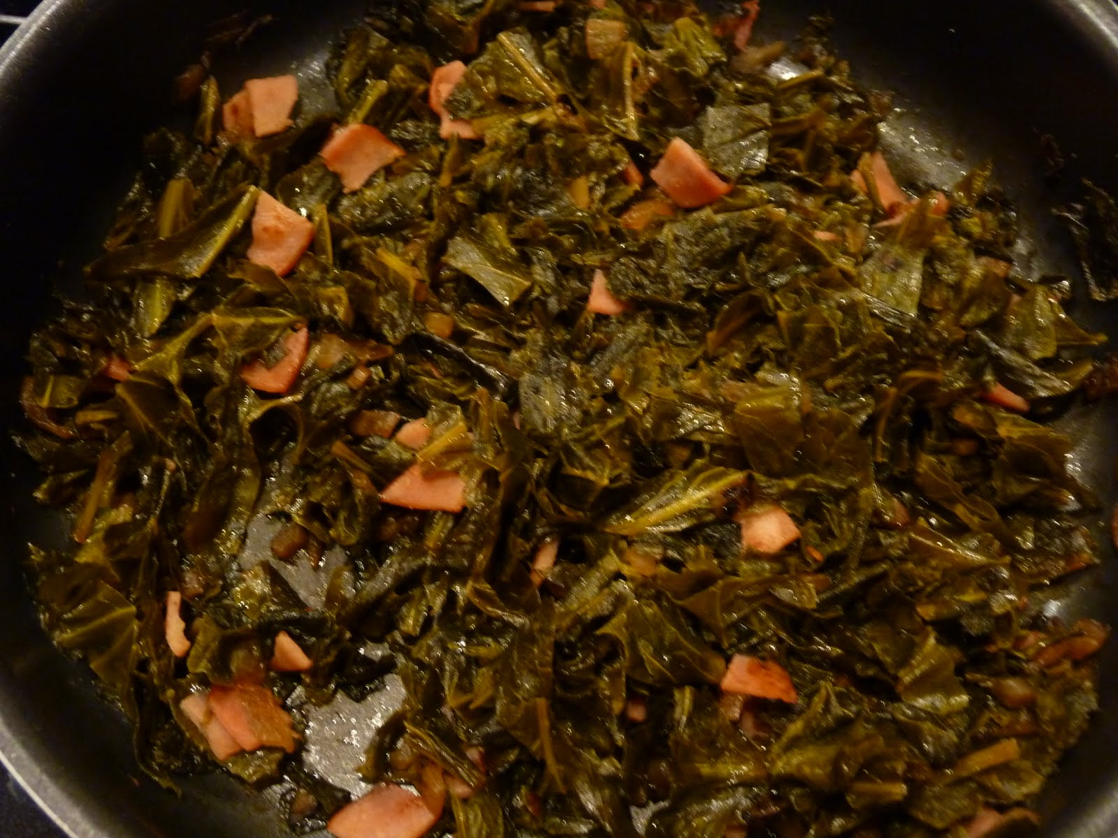 Cooked Collard Greens Add collard greens, vinegar,