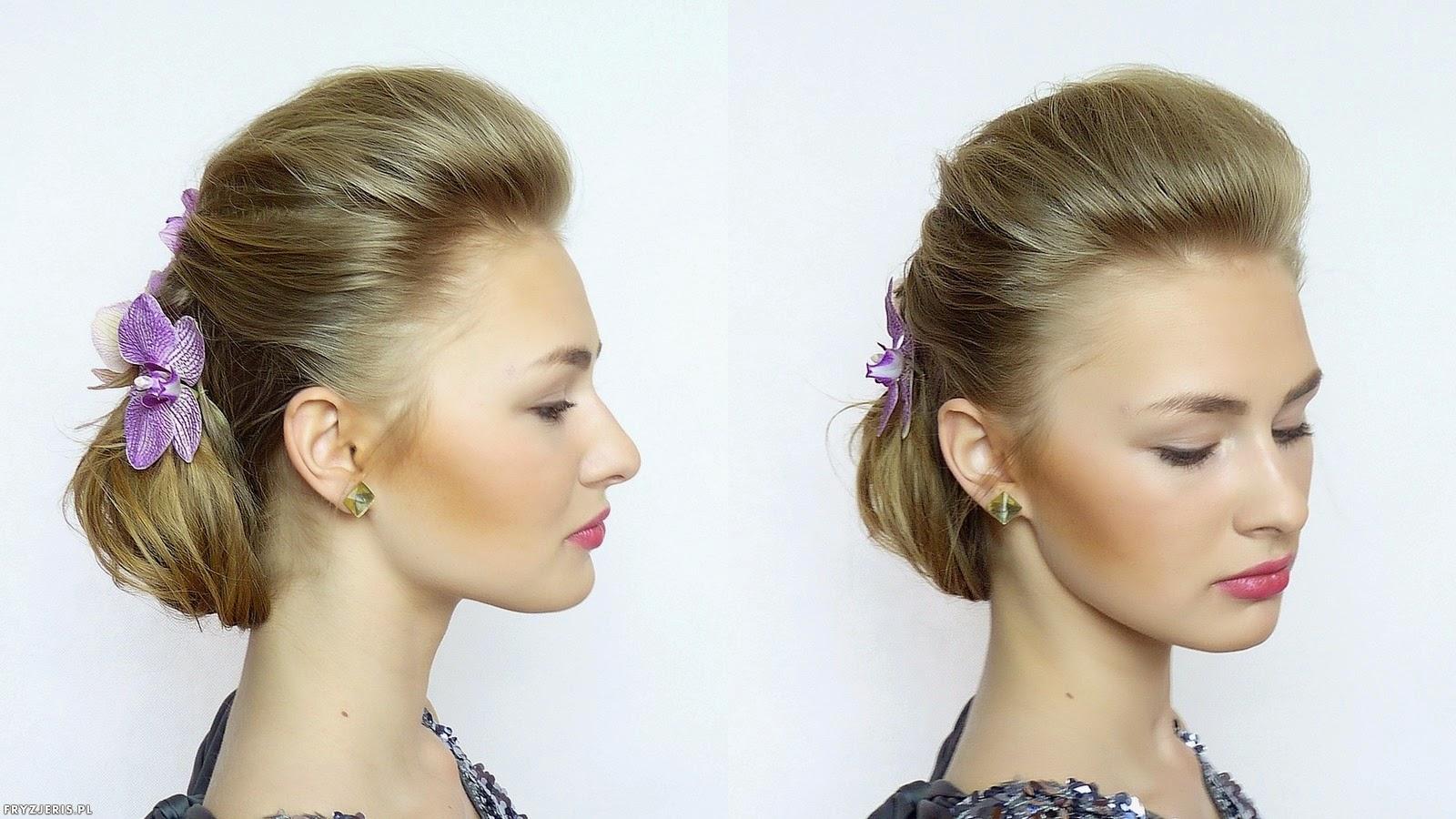 fryzura ślubna odsłaniająca twarz 2