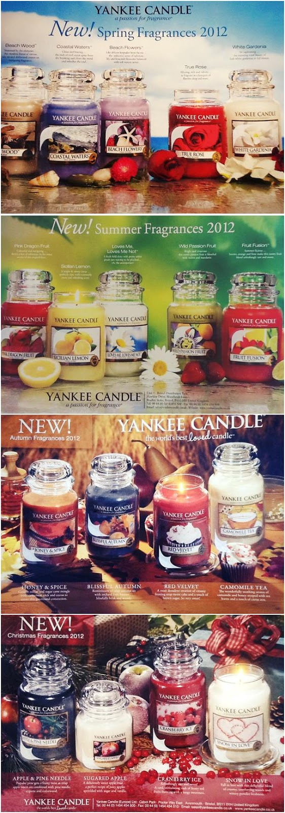 YANKEE CANDLE - THROUGH THE YEAR 2012: Spring: Beach Wood, Coastal Waters, ...