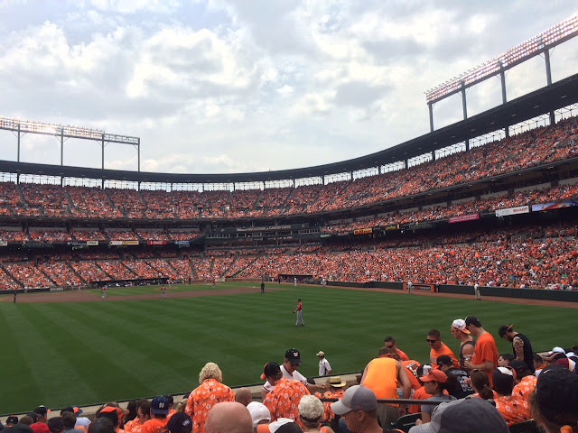 orioles nationals game at camden yards
