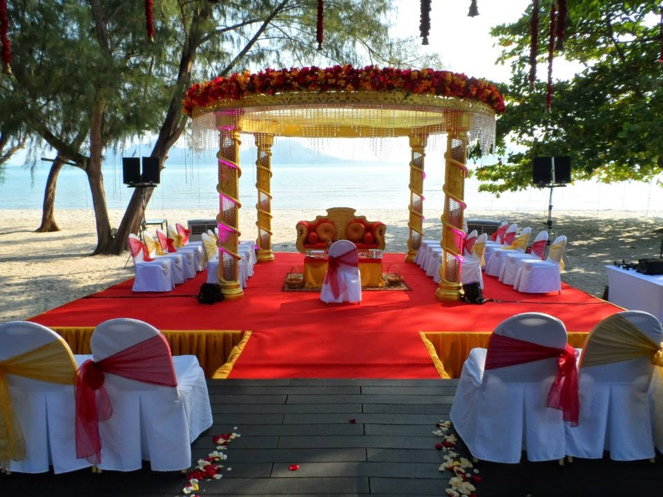 mandap on the deck