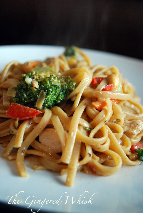 Chicken Pad Thai - The Gingered Whisk