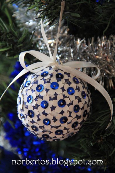 Christmas tree ball craft