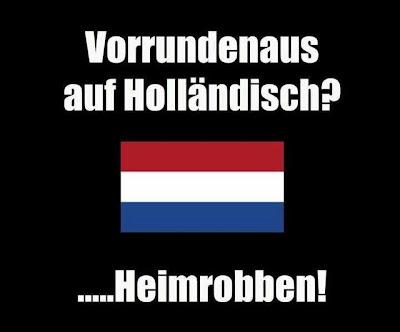 Vorrundenaus auf Holländisch - Heimrobben