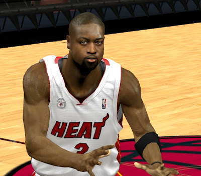 NBA 2K13 Dwyane Wade Cyberface Mods