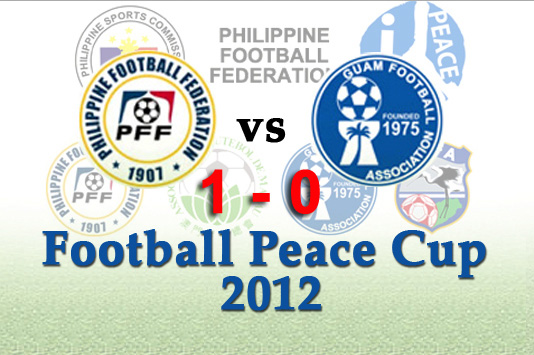Philippine Azkals Win against Guam in Football Peace Cup 2012 Game