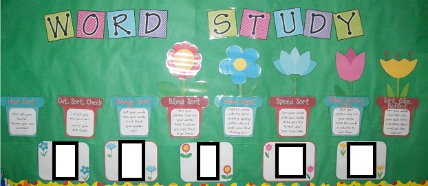 Down under teacher word sorting schedule bulletin board for Bulletin board template word