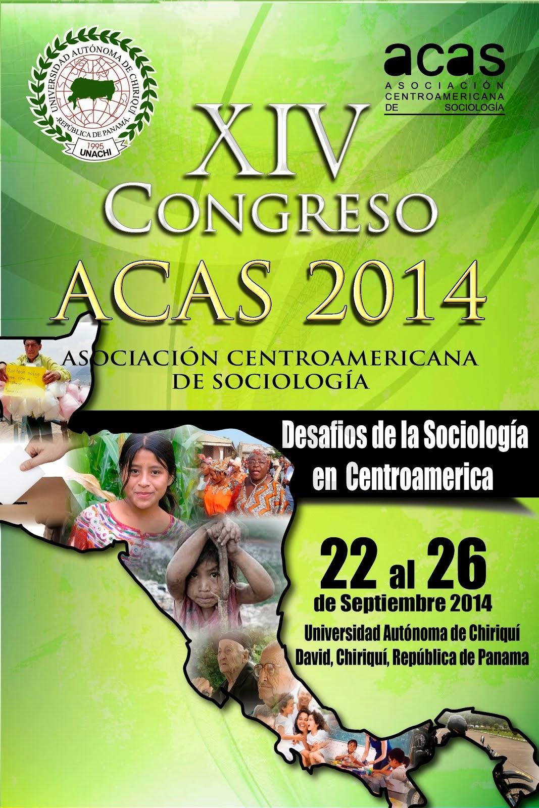 XIV Congreso Centroamericano de Sociología, David, Chiriquí, Panamá, septiembre de 2014.