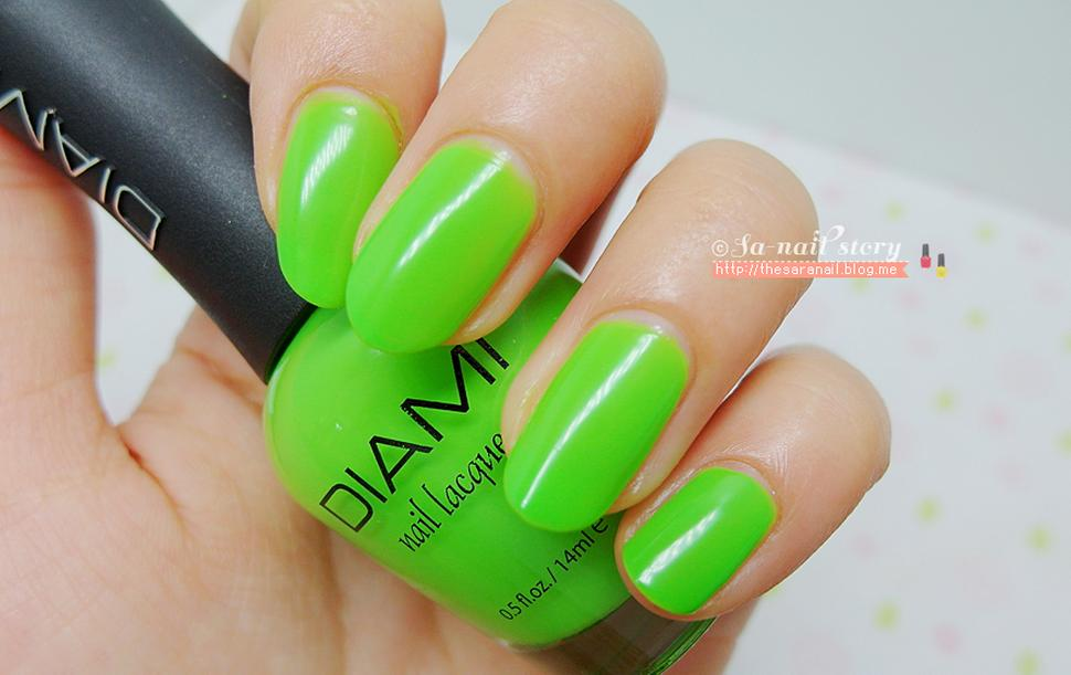 DIAMI Nail Lacquer Green Color Polish Products