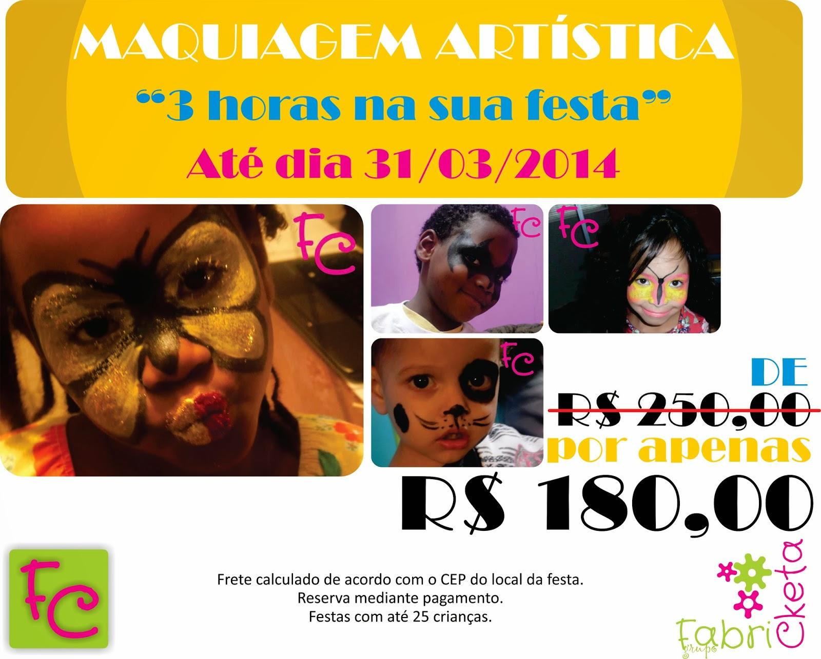 Promoção Maquiagem Artistica