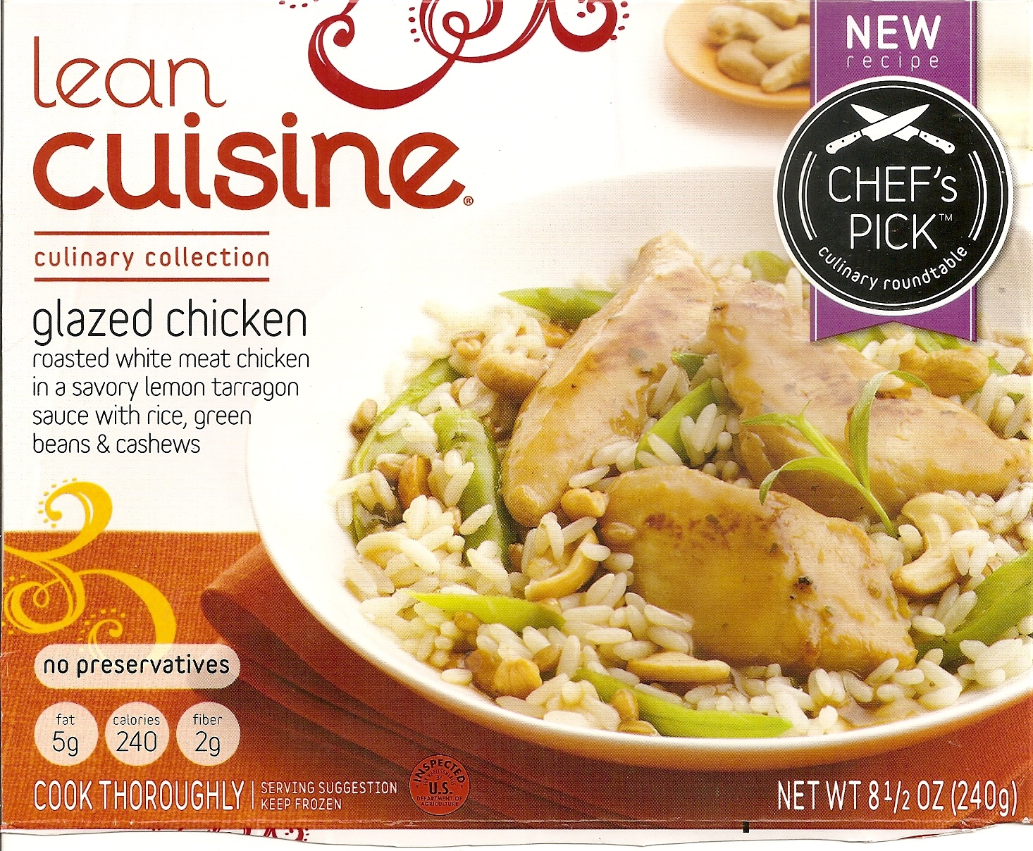 Forsythkid critique lean cuisine glazed chicken for Are lean cuisine dinners healthy