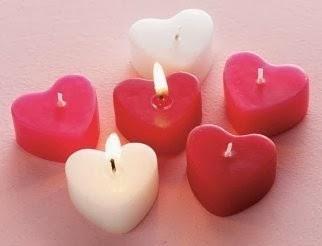 Fatto in casa candele profumate a forma di cuore fatte in - Candele fatte in casa ...