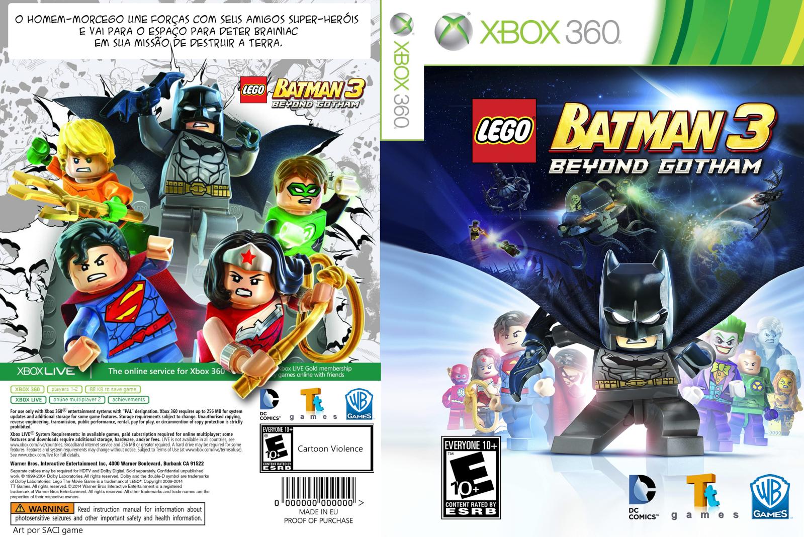 Capa LEGO Batman 3 Beyond Gotham Xbox 360