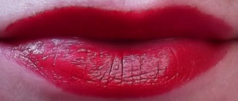 YSL Rouge Volupte 17 Red Muse Lipstick swatch on lips