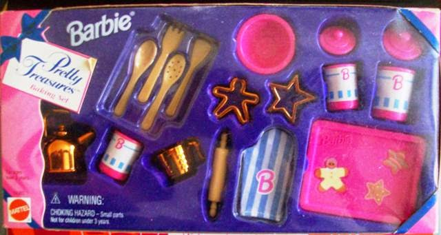 Barbie Pretty Treasures Baking Set 1996