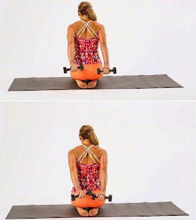 Deltoid Back Squeeze Girls Home Exercise